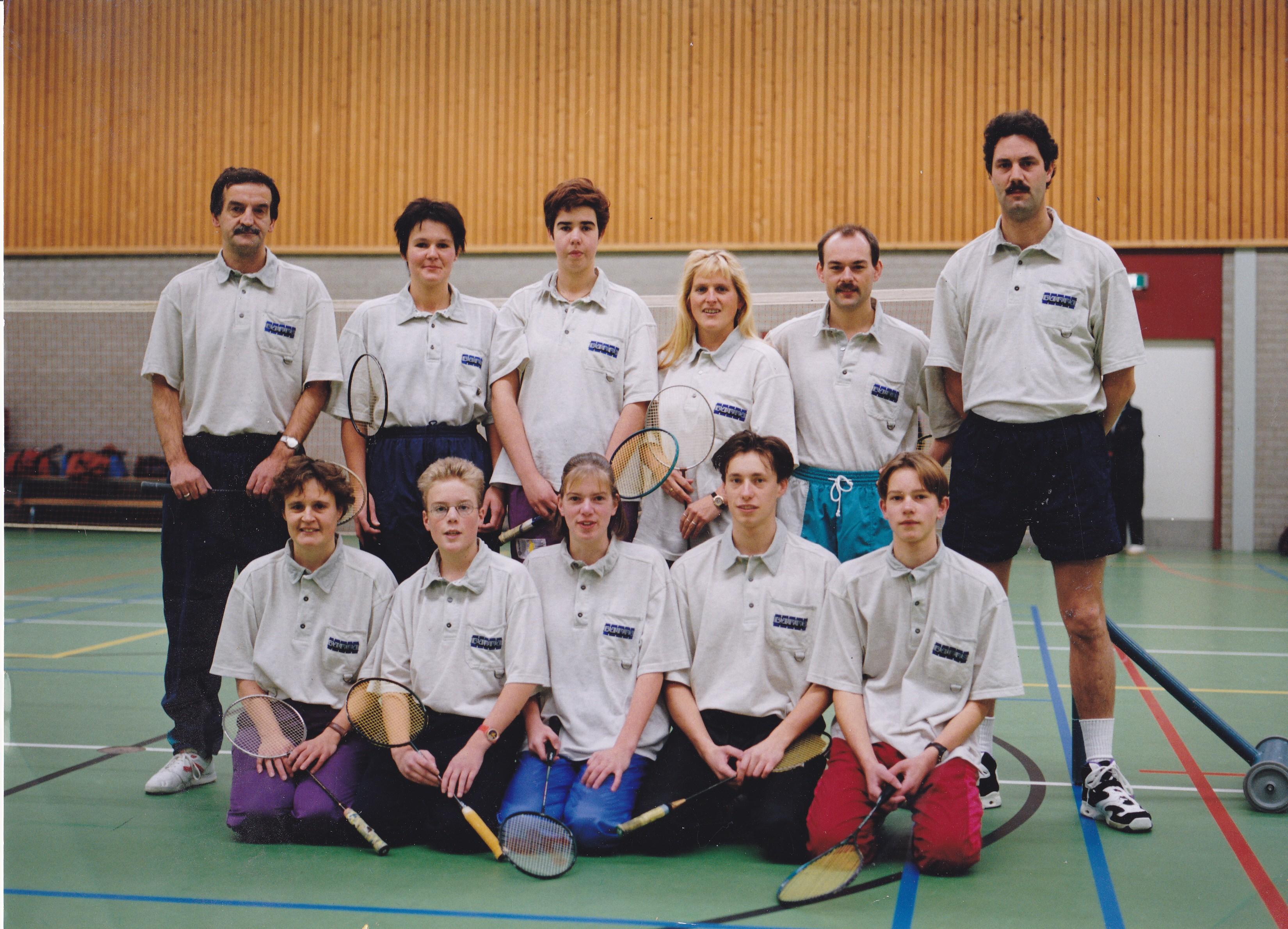 Teamfoto seizoen 1996/1997